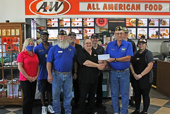 Disabled American Veterans receive donation from A&W