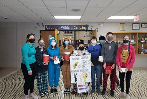 Pictured are WRHS Volunteers that helped Elizabeth Dohr with this year's Heroes event:  L-R:  Marisa Jewell, Ella Voskuil, Dana Doherty, Karissa Soerens, Rene Margalski, Noah Storms, (surprise guest-Dominick Forbush), Sam Kingston, and Taelyn Lund.